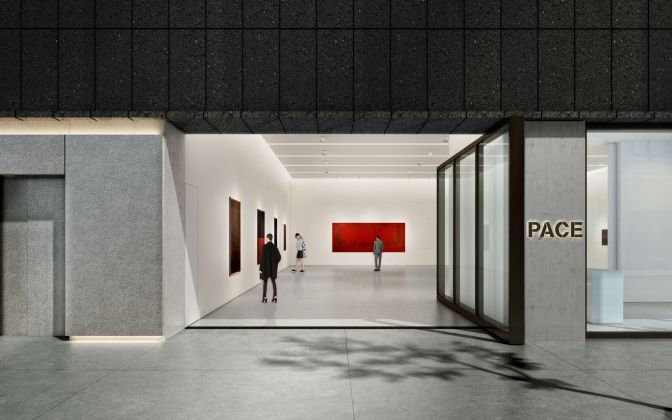 Architectural rendering of the ground floor gallery of 540 West 25th Street, New York.Courtesy of Bonetti / Kozerski Architecture.