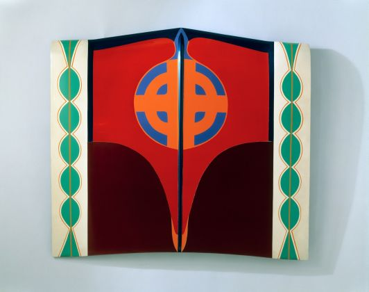 Judy Chicago, Car Hood, 1964; Sprayed automotive lacquer on car hood, 42 7/8 x 49 1/8 x 4 1/8 in.; Moderna Museet, Stockholm; Acquired 2007 with means from The Second Museum of our Wishes;© Judy Chicago/Artists Rights Society (ARS), New York .Photo Donald Woodman/ARS NY
