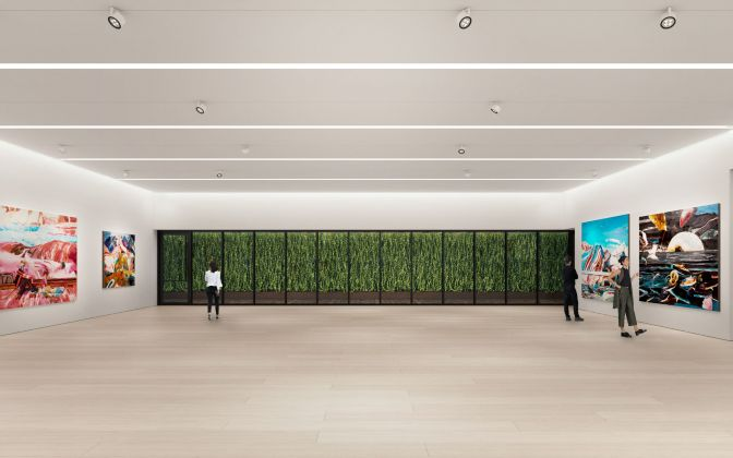 Architectural rendering of the second floor gallery of 540 West 25th Street, New York.Courtesy of Bonetti / Kozerski Architecture.