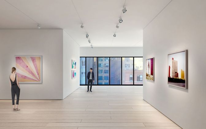 Architectural rendering of the third floor gallery 540 West 25th Street, New York.Courtesy of Bonetti / Kozerski Architecture.