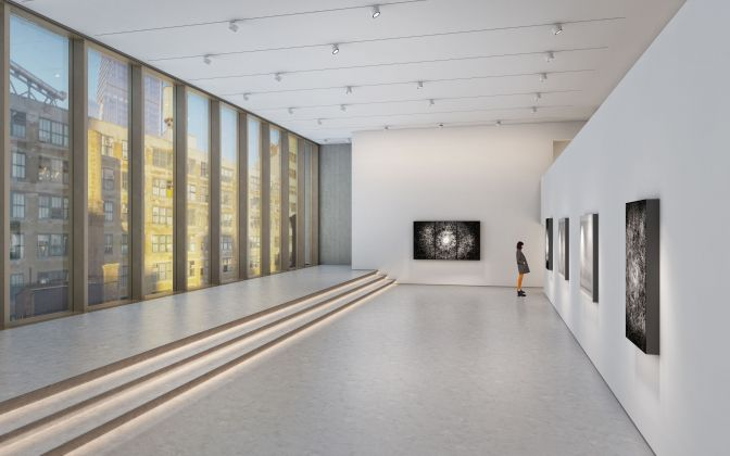 Architectural rendering of the seventh floor gallery of 540 West 25th Street, New York.Courtesy of Bonetti / Kozerski Architecture.