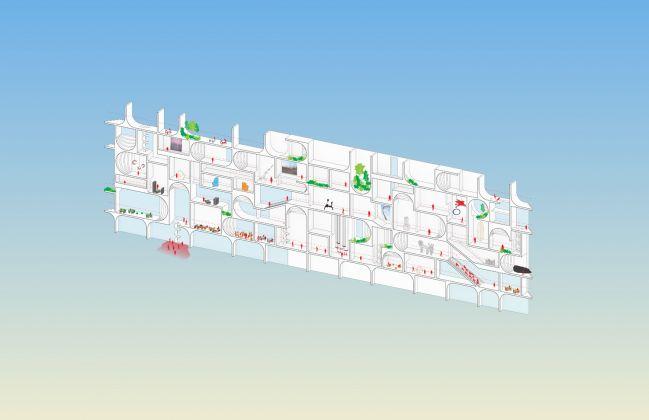 Concept Axon, BeMA: Beirut Museum of Art, designed by WORKac