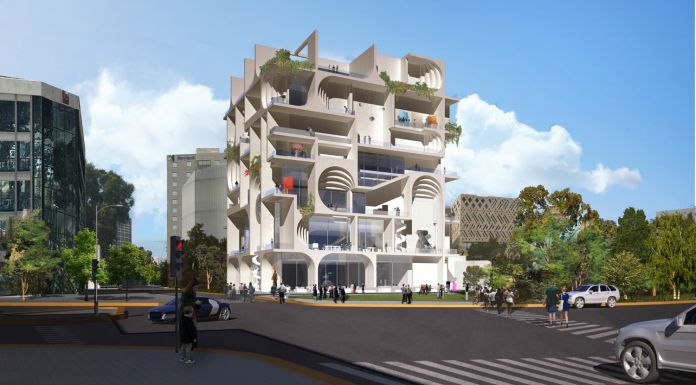 Day Rendering, BeMA: Beirut Museum of Art, designed by WORKac