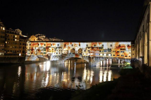 Firenze Light Festival 2018, Ponte Vecchio – Foto Courtesy MUS.E Firenze