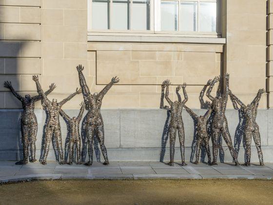 A view of the installation of Freddy Tsimba Centres fermés, rêves ouverts © RMCA, Tervuren, photo Jo Van de Vijver
