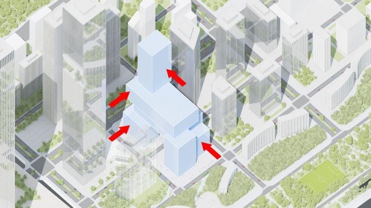 Step diagrams, Vanke 3D City, Shenzhen, China, 2018 © ATCHAIN Copyright: MVRDV 2018 – (Winy Maas, Jacob van Rijs, Nathalie de Vries)