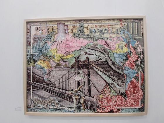 Galleria: 50 Golborne; opera: Figures 1976, Planisphere Elementaire, di Malala Andrialavidrazana.
