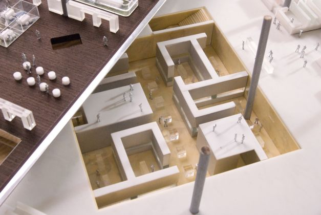 Qatar National Library, Model. Image courtesy OMA
