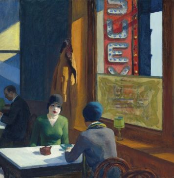 Edward Hopper, Chop Suey, 1929. Christie's, An American Place | The Barney A. Ebsworth Collection Evening Sale, New York, 13 novembre 2018. $ 91,875,000. Courtesy Christie's Images Ltd 2018