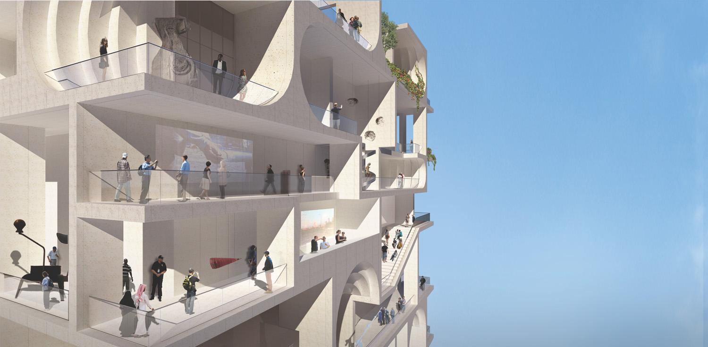 NE Render, BeMA: Beirut Museum of Art, designed by WORKac