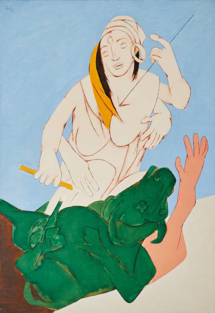 Tyeb Mehta, Durga Mahisasura Mardini (1983). Courtesy Sotheby's
