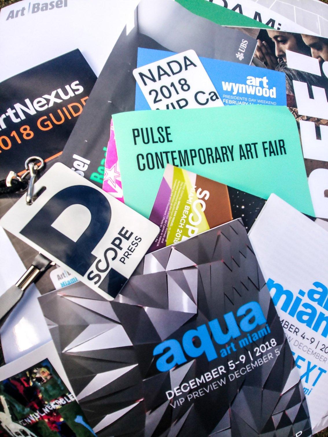 Pass, brochure e press kit delle tantissime fiere