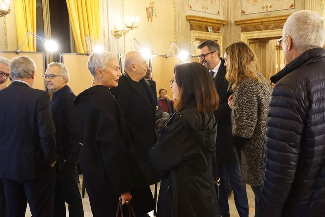 La consegna del Premio alla Carriera a M. Fuksas. Roma, novembre 2018 Foto Fabio Grassi/Palazzo Taverna – Courtesy IN/ARCHLazio