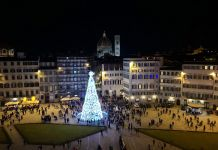 Firenze Light Festival 2018, Piazza Santa Maria Novella – Foto Courtesy MUS.E Firenze