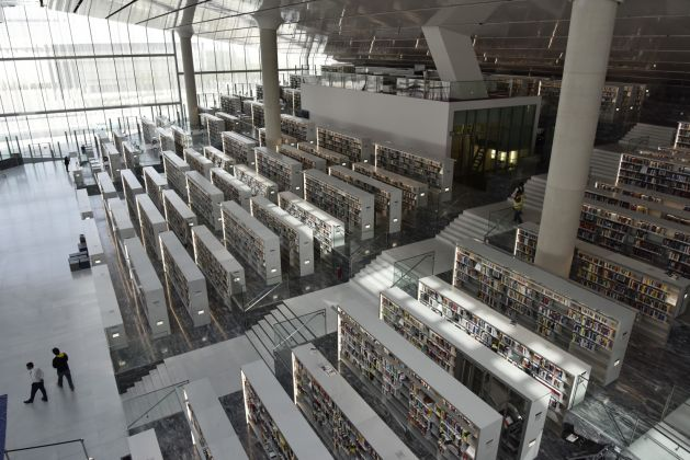 Qatar National Library. Photo by Hans Werlemann © OMA