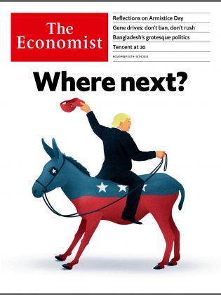 La copertina dell'Economist del 10 novembre 2018