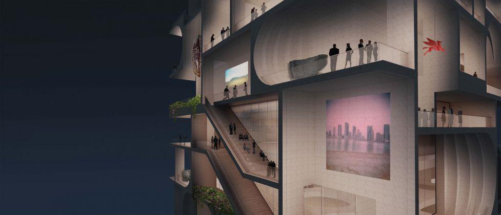 SW render, BeMA: Beirut Museum of Art, designed by WORKac