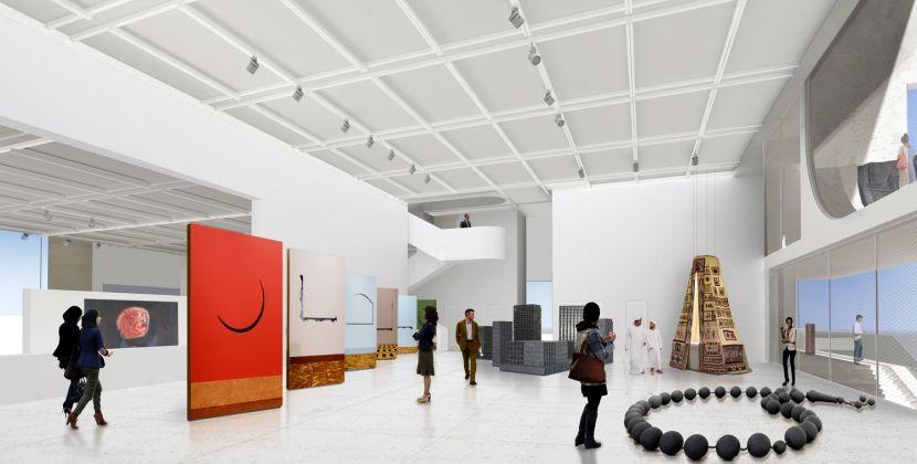 Interior rendering, BeMA: Beirut Museum of Art, designed by WORKac