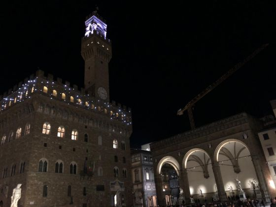Firenze Light Festival 2018, Palazzo Vecchio– Foto Courtesy MUS.E Firenze