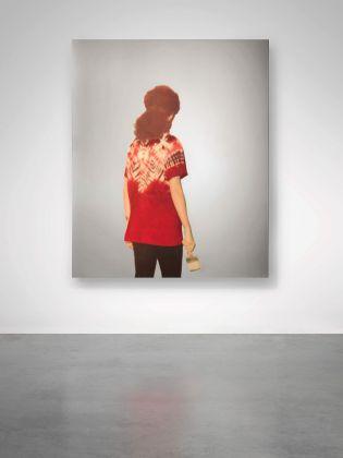 Michelangelo Pistoletto, Pittrice Rossa con Pantaloni Scuri (Armona Pistoletto)_1989 EST. € 250.000 350.000