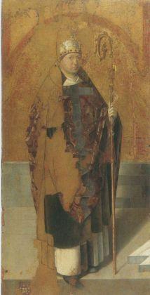 Antonello da Messina, San Gregorio Magno dal Polittico di San Gregorio, 1472-1473. Tempera grassa su tavola, 125 x 63,5 cm. Museo Regionale Messina