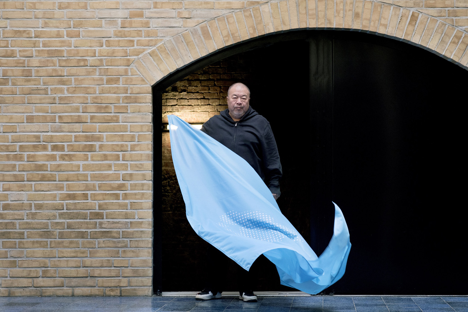 Ai Weiwei creates Flag to mark, 70th anniversary of declaration of human rights credits Camillla Greenwel