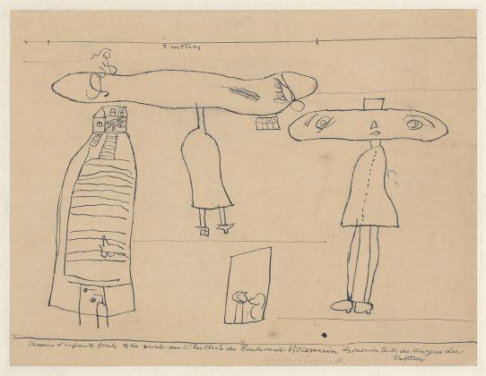 Alberto Giacometti, Copie d'apres des dessins d'enfants faits à la craie sur le trottoir du Boulevard Villemain, 1932. Fondation Giacometti, Paris © Succession Alberto Giacometti - VEGAP, Bilbao 2018