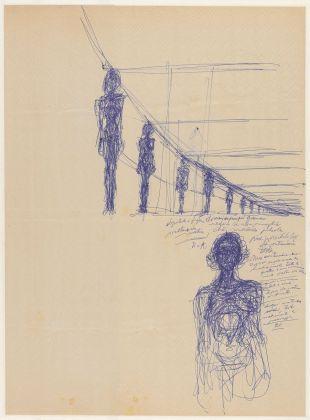 Alberto Giacometti, Annette nue debout et femmes debout en perspective, 1955 ca. Fondation Giacometti, Paris © Succession Alberto Giacometti VEGAP, Bilbao 2018