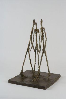 Alberto Giacometti, Trois hommes qui marchent (petit plateau), 1948. Fondation Giacometti, Paris © Succession Alberto Giacometti VEGAP, Bilbao 2018
