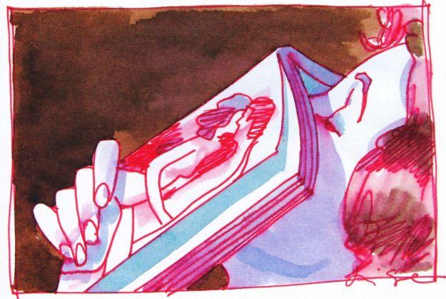 Aldo Di Gennaro, Autoerotismo femminile 1, illustrazione per Salve, anni '80