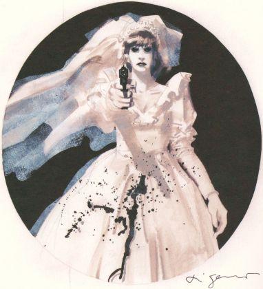 Aldo Di Gennaro, illustrazione per Almanacco Bonelli per stampa in bianco e nero