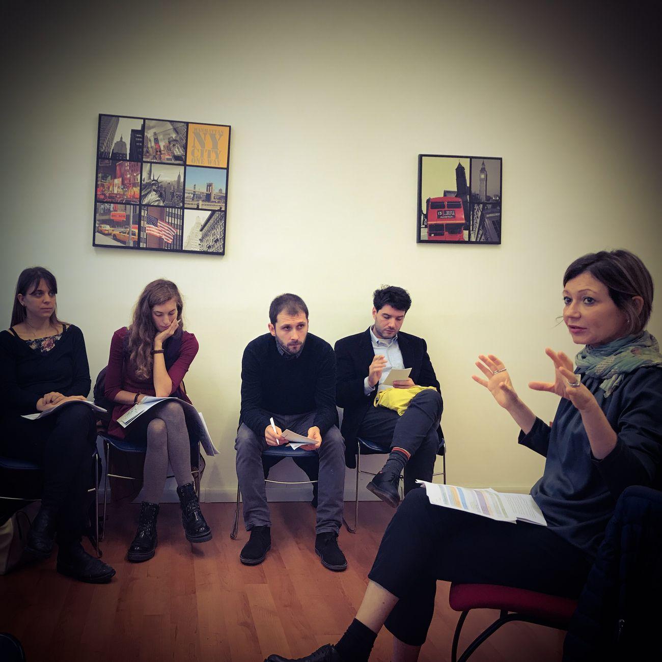 AltroVE. Prima riunione di progetto (Cristiano Focacci Menchini, Fabio de Meo, Beatrice Gelmetti, Beatrice Alici)