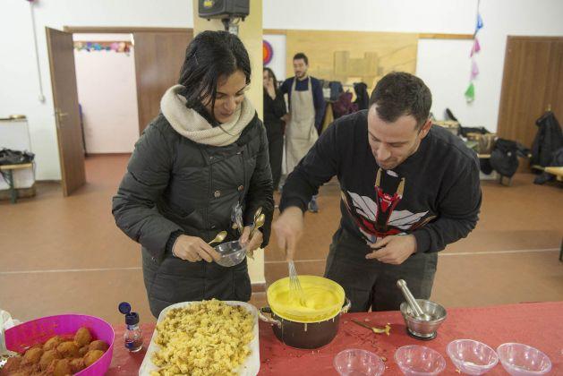 Straperetana d'inverno - pranzo d'artista a Pereto. Ph. Giorgio Benni