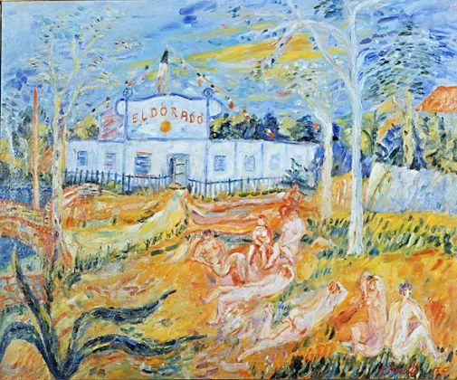 Renato Birolli, Eldorado, 1935, olio su tela, cm 85x5x110, Collezione Boschi di Stefano