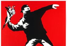 Banksy, Flower Thrower