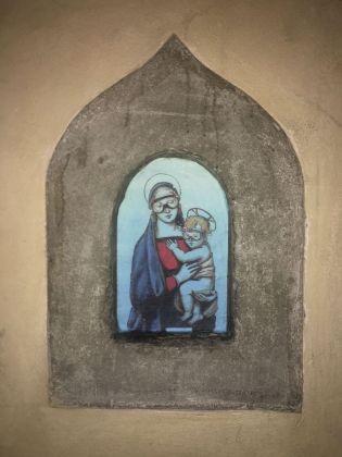 Blub, Madonna con bambino di Raffaello, Firenze, 2018