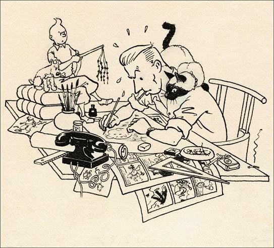 Caricature, Herge par Herge