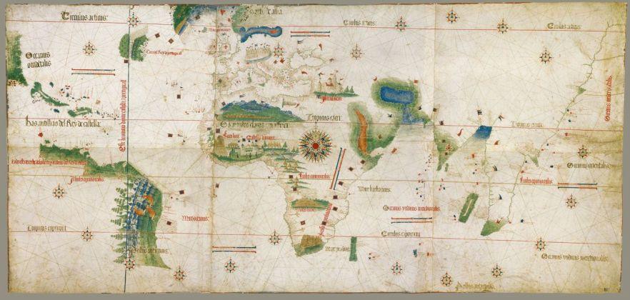 Carta del Cantino, 1501-02. Modena, Biblioteca Estense Universitaria
