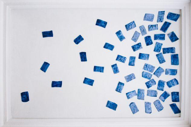Giorgio Griffa per Viadellafucina16 Condominio Museo, ph Miha Sagadin, courtesy Kaninchen Haus