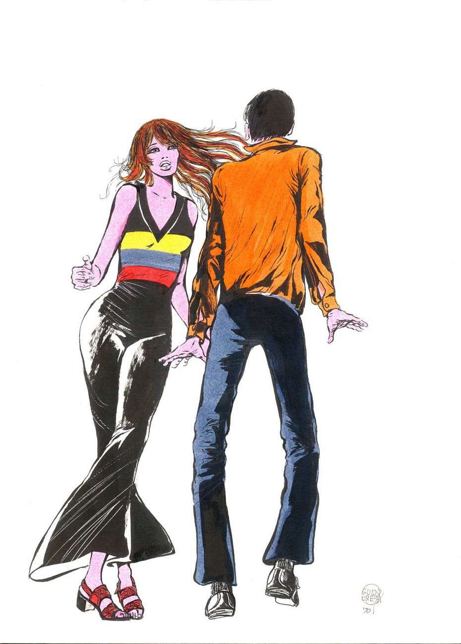Guido Crepax, Illustrazione per la campagna pubblicitaria Terital, 1970. Courtesy Archivio Crepax