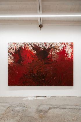 Hermann Nitsch, Schüttbild, 2014. Galleria Alberta Pane, Venezia