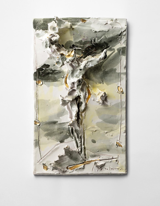 Lucio Fontana, Cristo, 1955-56, stima € 100.000 - 150.000. Courtesy Il Ponte