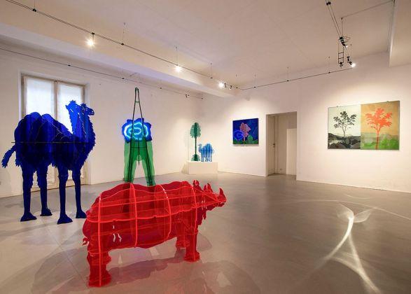Il favoloso mondo di Gino Marotta. Exhibition view at Erica Ravenna Arte Contemporanea, Roma 2018