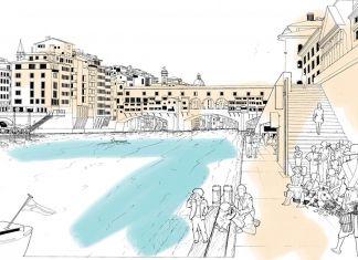 Il piano generale per il Lungarno a Firenze, la città natale di Richard Rogers. Courtesy RSHP