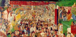 James Ensor, L'entrata di Cristo a Bruxelles nel 1889, 1888. Getty Museum, Los Angeles