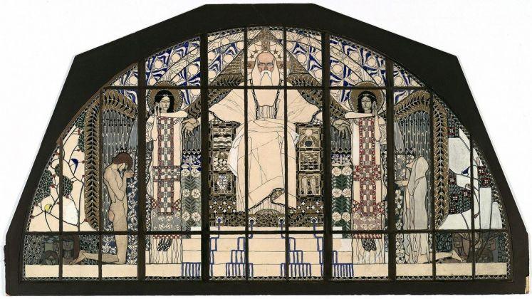 Koloman Moser, Design for the south facing window of the Church of St. Leopold am Steinhof, 1905-06 © MAK Georg Mayer