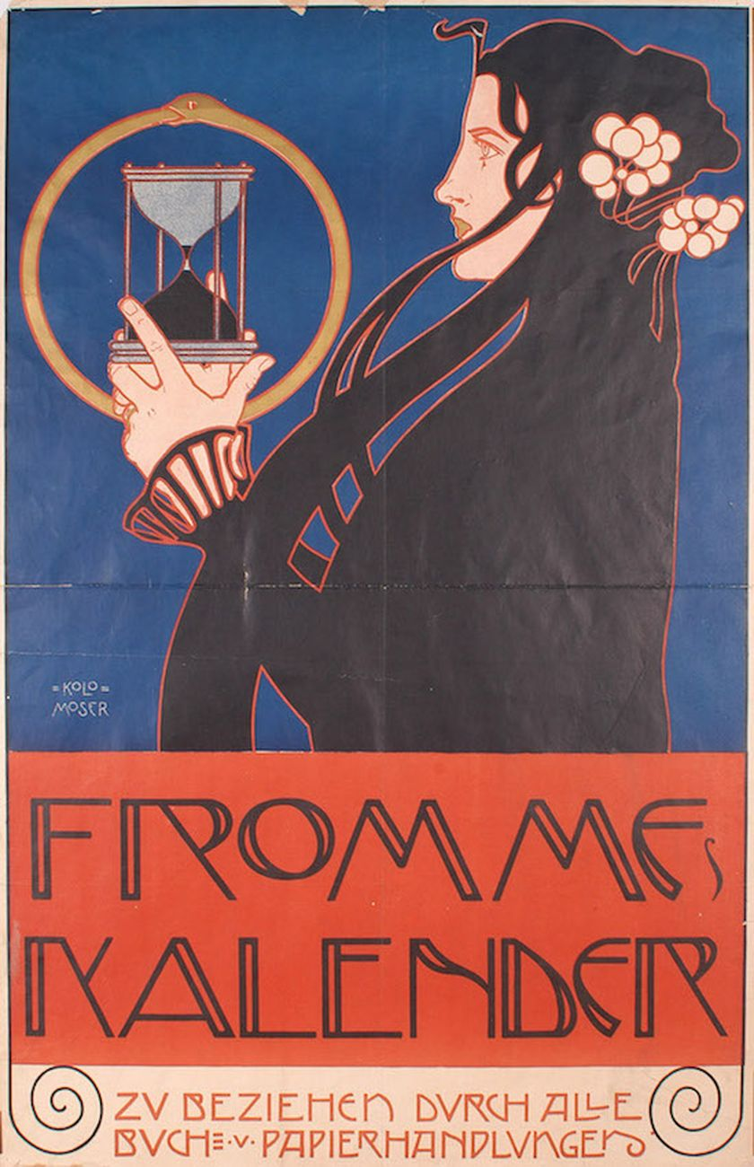 Koloman Moser, Frommes Kalender, 1899 © MAK