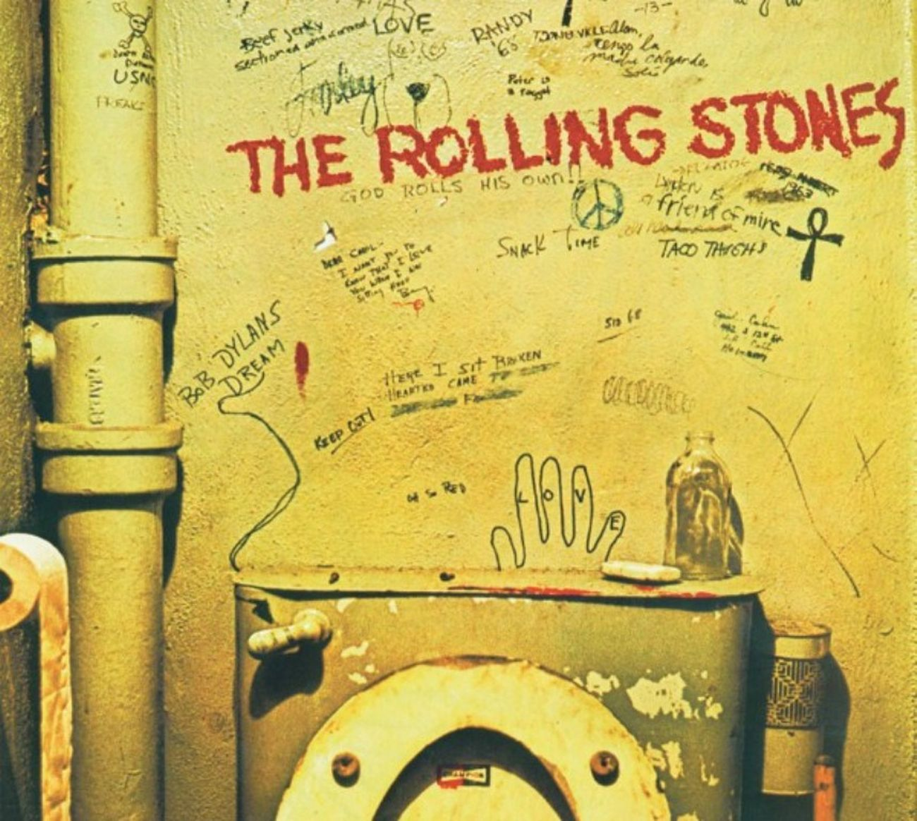 La copertina originale di Beggars Banquet dei Rolling Stones, censurata nel 1968