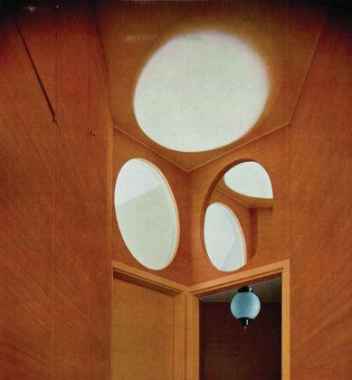 Luigi Caccia Dominioni, sistemazione di un appartamento nell'edificio di via Vigoni 13, Domus n.380, 1961, disimpegno zona notte