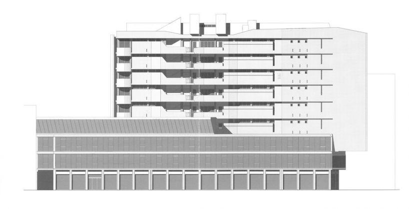 Luigi Moretti, Edificio per abitazioni in Corso Italia 13-17, Milano, 1949-56
